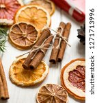 christmas decoration with dry... | Shutterstock . vector #1271713996