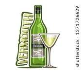 illustration of alcohol drink... | Shutterstock . vector #1271726629