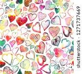 multicolored seamless... | Shutterstock .eps vector #1271737669