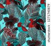 summer exotic seamless pattern. ... | Shutterstock . vector #1271740879
