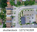 aerial top view of road... | Shutterstock . vector #1271741509