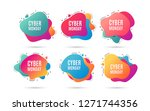 cyber monday sale. special... | Shutterstock .eps vector #1271744356