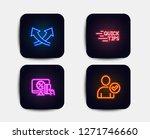 neon glow lights. set of online ... | Shutterstock .eps vector #1271746660