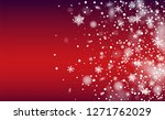 new year snow background.... | Shutterstock .eps vector #1271762029