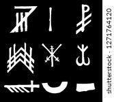 set of old norse scandinavian... | Shutterstock .eps vector #1271764120