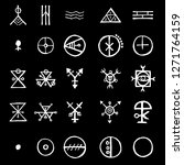 set with mystic and occult... | Shutterstock .eps vector #1271764159