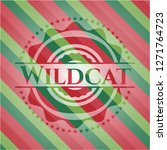 wildcat christmas colors style... | Shutterstock .eps vector #1271764723