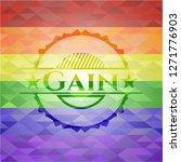 gain lgbt colors emblem  | Shutterstock .eps vector #1271776903