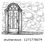 sketch hand drawn old old... | Shutterstock .eps vector #1271778079
