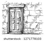 sketch hand drawn old double... | Shutterstock .eps vector #1271778103