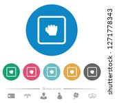 grab object flat white icons on ... | Shutterstock .eps vector #1271778343