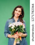 smiling attractive woman... | Shutterstock . vector #1271782366