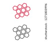 honeycomb icon vector | Shutterstock .eps vector #1271803996