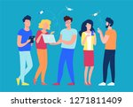 group of people working... | Shutterstock .eps vector #1271811409