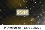 2019 christmas tinsel confetti  ... | Shutterstock .eps vector #1271820223