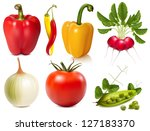 collection of photo realistic... | Shutterstock .eps vector #127183370