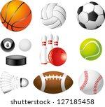 Sport Balls Photo Realistic...