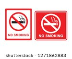 no smoking sign on white... | Shutterstock .eps vector #1271862883