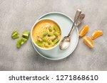 healthy breakfast    smoothie... | Shutterstock . vector #1271868610