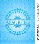 assorted sky blue water emblem. | Shutterstock .eps vector #1271883700