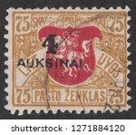 lithuania   circa 1922  a stamp ... | Shutterstock . vector #1271884120