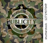 publicity on camouflage pattern | Shutterstock .eps vector #1271907049
