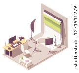 vector isometric photographer... | Shutterstock .eps vector #1271911279