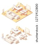 vector isometric ceo office... | Shutterstock .eps vector #1271912800