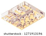 vector isometric corporate... | Shutterstock .eps vector #1271913196