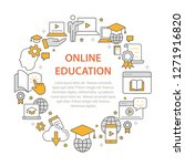 e learning distance education... | Shutterstock .eps vector #1271916820