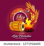 happy lohri illustration... | Shutterstock .eps vector #1271926600