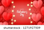 happy saint valentine's day... | Shutterstock .eps vector #1271927509