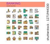 bank and finance icons set. ui... | Shutterstock .eps vector #1271944330