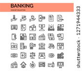 bank and finance icons set. ui... | Shutterstock .eps vector #1271944333