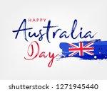 happy australia day lettering ... | Shutterstock .eps vector #1271945440