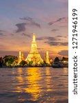 beautiful sunset wat arun... | Shutterstock . vector #1271946199