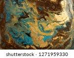 gold marbling texture design.... | Shutterstock . vector #1271959330