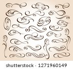 calligraphic elegant elements... | Shutterstock .eps vector #1271960149