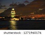 wonderful sunset with maiden's...   Shutterstock . vector #1271960176
