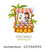 spice market isolated on white... | Shutterstock .eps vector #1271965993