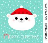 merry christmas. polar white... | Shutterstock .eps vector #1271966596