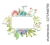 watercolor hand drawn greeting... | Shutterstock . vector #1271968750