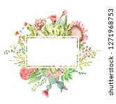 watercolor hand drawn greeting... | Shutterstock . vector #1271968753