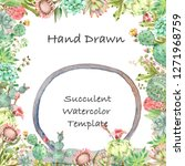 watercolor hand drawn greeting... | Shutterstock . vector #1271968759