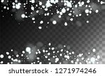 new year snow background.... | Shutterstock .eps vector #1271974246