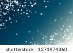 realistic snowflakes background.... | Shutterstock .eps vector #1271974360