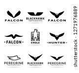 eagle logo vector design ... | Shutterstock .eps vector #1271976889