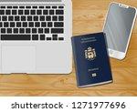 liechtenstein passport on the... | Shutterstock . vector #1271977696