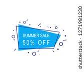 summer sale 50  off banner... | Shutterstock .eps vector #1271981230