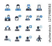 medical personnel icons   blue... | Shutterstock .eps vector #1271988583